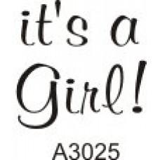 A3025 It's a Girl