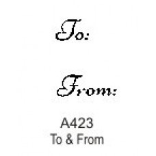 A423 To & From