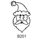 B201 Outline Santa Face