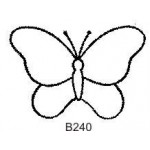 B240 Outline Butterfly