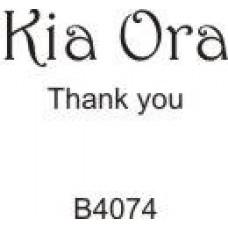 B4074 Kia Ora (Thank You)