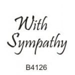 B4126 With Sympathy