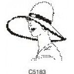 C5183 Deco Woman with Hat