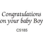 C5185 Congratulations Baby Boy