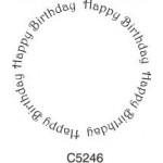 C5246 Happy Birthday Round Sm
