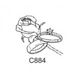 C884 Wedding Rose