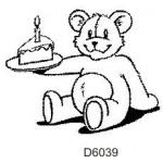 D6039 Teddy with Cake