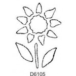 D6105 Outline Flower