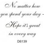 D6139 Birthday Verse