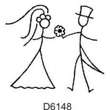 D6148 Bride & Groom