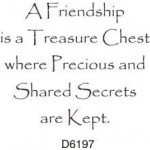 D6197 A Friendship is a Treasure Chest