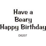 D6207 A Beary Birthday