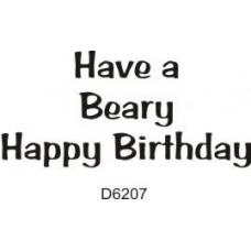 D6207 A Beary Birthday