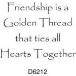 D6212 Friendship is a Golden Thread