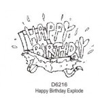 D6216 Happy Birthday Explode
