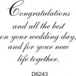 D6243 Congratulations