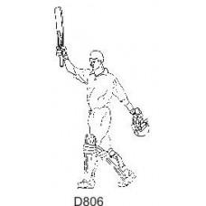 D806 Cricketer Raised Bat