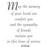 E7018 May the Memory of Your Loved One