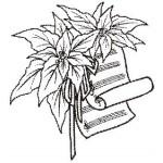 E7152 Poinsettia Scroll