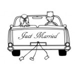 E7163 - Just Married Car