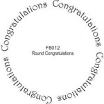 F8012 Round Congratulations