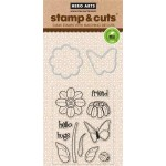 DC147 - Butterfly and Flower Stamp & Cut