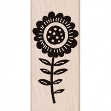 K5723 - Big Bold Flower (Woodblock Stamp)