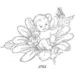 J753 Baby in a Flower