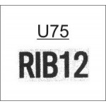 TU75 - Ribtype 9.53mm Letter and Number Set
