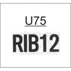 FU75VP - Ribtype 9.53mm Value Pack Number Set