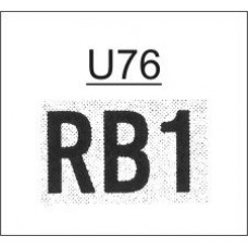 FU76 - Ribtype 12.7mm Number Set