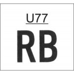 TU77 - Ribtype 15.9mm Letter and Number Set