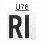 TU78 - Ribtype 19.0mm Letter and Number Set